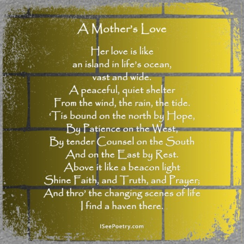 A Mother's Love - Poetry Gifts - Distressed Wall - Women's Premium T-Shirt