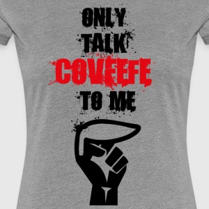 talk covfefe to me - Women's Premium T-Shirt