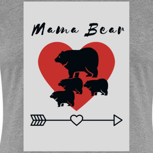 Mama Bear with cubs - Women's Premium T-Shirt
