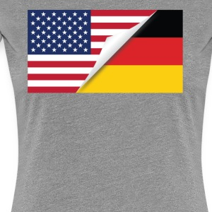 Half American Half German Flag - Women's Premium T-Shirt