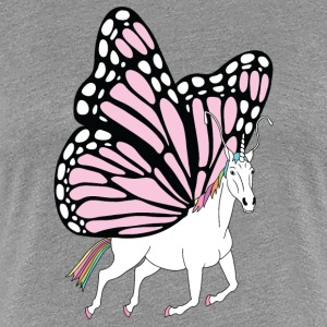 Butterfly Unicorn Outline - Women's Premium T-Shirt