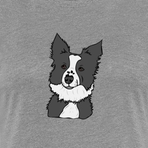 Lucky the Border Collie! - Women's Premium T-Shirt