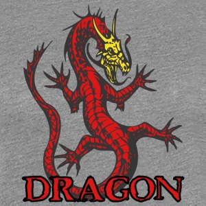 open_hand_dragon_red - Women's Premium T-Shirt