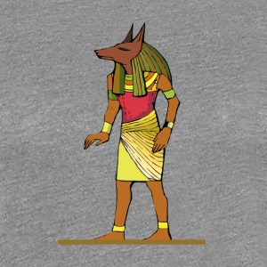 Ancient Egyptian Painting - Anubis, the Wolf God - Women's Premium T-Shirt