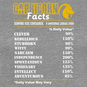 Capricorn Facts Tee Shirt - Women's Premium T-Shirt