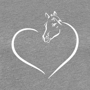 HEART HORSE - Women's Premium T-Shirt
