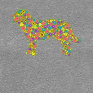 Labrador Retriever Flower Tees - Women's Premium T-Shirt