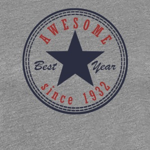 85th Birthday Awesome since T Shirt Made in 1932 - Women's Premium T-Shirt