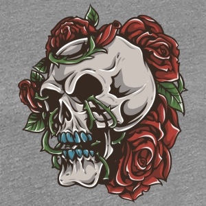roses_and_skull - Women's Premium T-Shirt