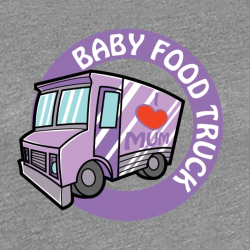 Purple baby food truck - Women's Premium T-Shirt