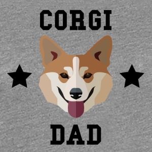 Corgi Dad Dog Owner - Women's Premium T-Shirt