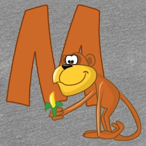 M Is For Monkey - Women's Premium T-Shirt