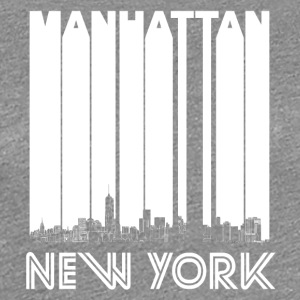 Retro Manhattan New York Skyline - Women's Premium T-Shirt