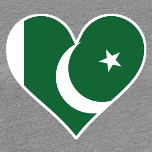 Pakistani Flag Heart - Women's Premium T-Shirt