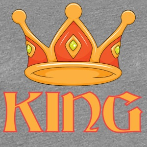 Light red king crown - Women's Premium T-Shirt