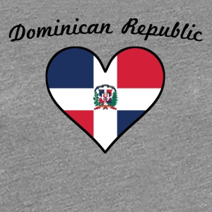 Dominican Republic Flag Heart - Women's Premium T-Shirt