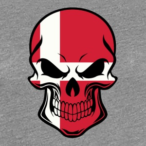 Danish Flag Skull - Women's Premium T-Shirt