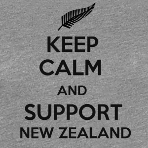 Keep Calm and support New Zealand - Women's Premium T-Shirt