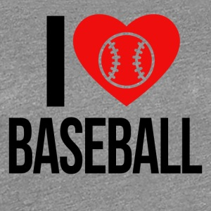 I LOVE BASEBALL - Women's Premium T-Shirt