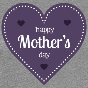 happy_mother-s_day_dark_heart - Women's Premium T-Shirt