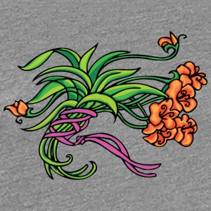 green_and_light_red_flowers - Women's Premium T-Shirt