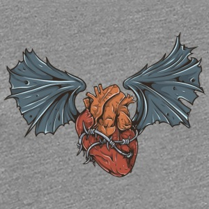 heart_with_bat_wings - Women's Premium T-Shirt