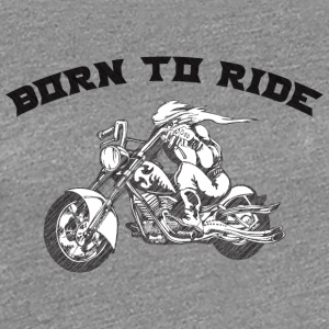BURN_TO_RIDE_BIKER_2 - Women's Premium T-Shirt