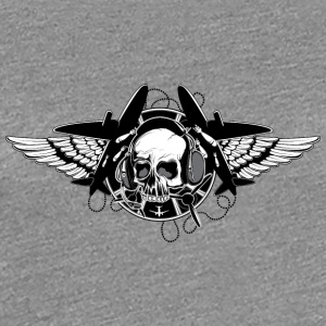 skull_and_airplanes - Women's Premium T-Shirt