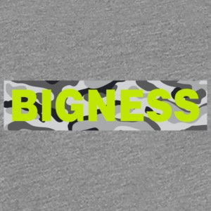 BIGNESS Grey Camo - Women's Premium T-Shirt