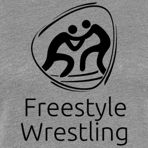 Freestyle_wrestling_black - Women's Premium T-Shirt