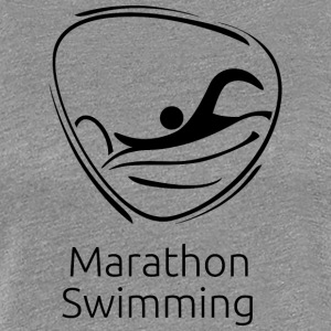 Marathon_swimming_black - Women's Premium T-Shirt