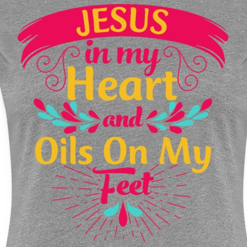 Jesus and Oils - Women's Premium T-Shirt