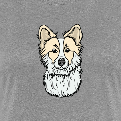 Floofy, Fluffy Corgi! - Women's Premium T-Shirt