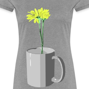 Flowers grow where needed - Women's Premium T-Shirt