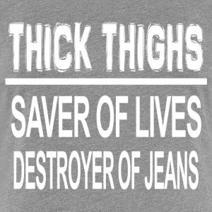 Thick Thighs White - Women's Premium T-Shirt