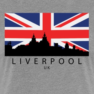 Liverpool England UK Skyline British Flag - Women's Premium T-Shirt