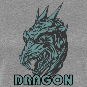 scary_dragon_head_color - Women's Premium T-Shirt