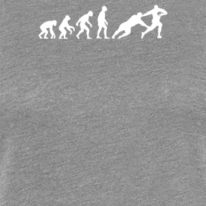 Evolution of Man Rugby - Women's Premium T-Shirt