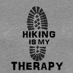 Hiking Is My Therapy - Women's Premium T-Shirt