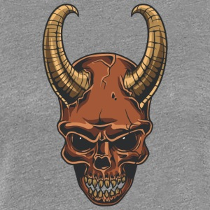 coat_horn_demon_skull - Women's Premium T-Shirt