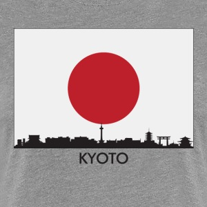 Kyoto Japan Skyline Japanese Flag - Women's Premium T-Shirt
