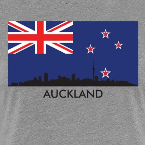 Auckland Skyline New Zealand Flag - Women's Premium T-Shirt