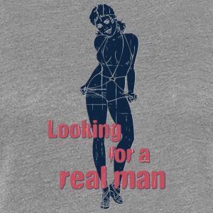 Looking_for_a_real_man_vintage - Women's Premium T-Shirt