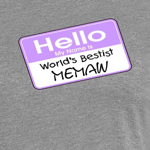 World's Bestist Memaw - Women's Premium T-Shirt