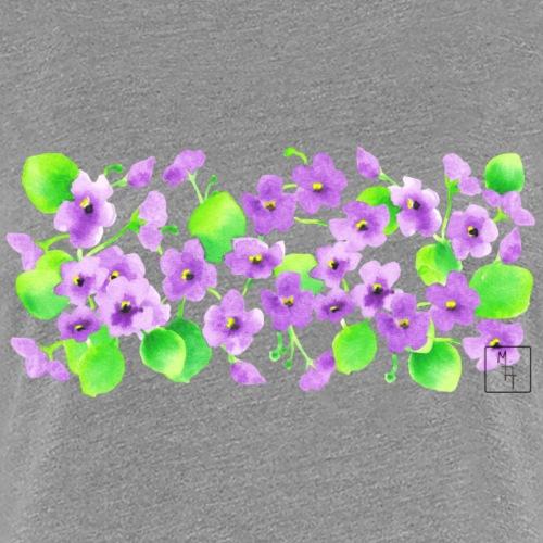Watercolor Violets - Women's Premium T-Shirt