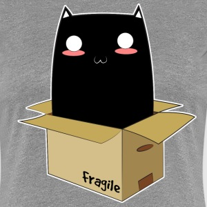 Black Cat in a Box - Women's Premium T-Shirt