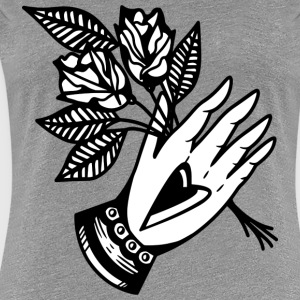 Hand/rose - Women's Premium T-Shirt