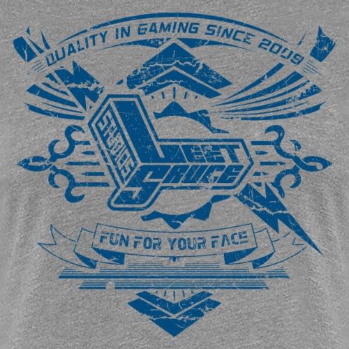 Vintage Leet Sauce Studios Crest Blue - Women's Premium T-Shirt