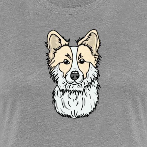 Floofy, Fluffy Corgi! - Women's Premium T-Shirt