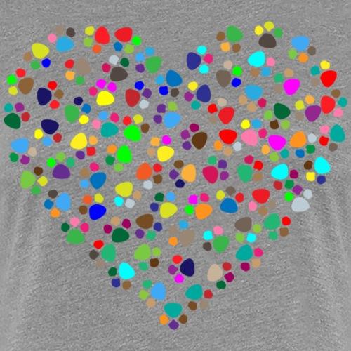 Cat Paw Prints Heart model 2 - Women's Premium T-Shirt